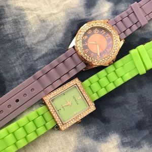 Two rubber watches